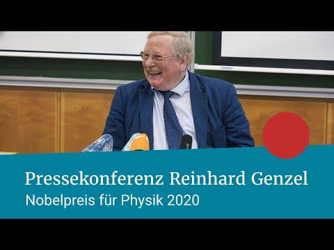 Reinhard Genzel | Physik-Nobelpreis 2020 | Webcam-Mitschnitt Pressekonferenz (gekürzt)